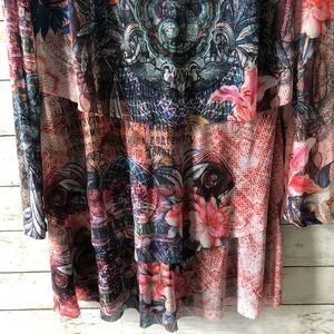 Desigual Tops - Desigual tiered tunic bohemian boho dress Sz 12 J7